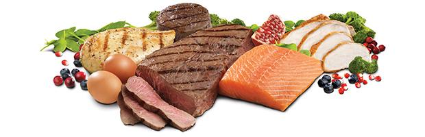 billede af kød med masser af protein